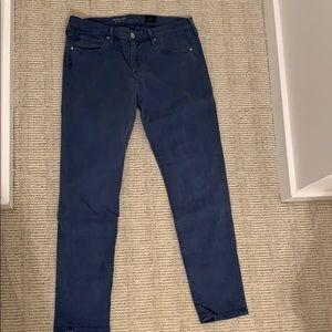 Blue stretch jeans